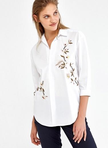 Çiçek Desenli Truvakar Kol Gömlek-Ipekyol